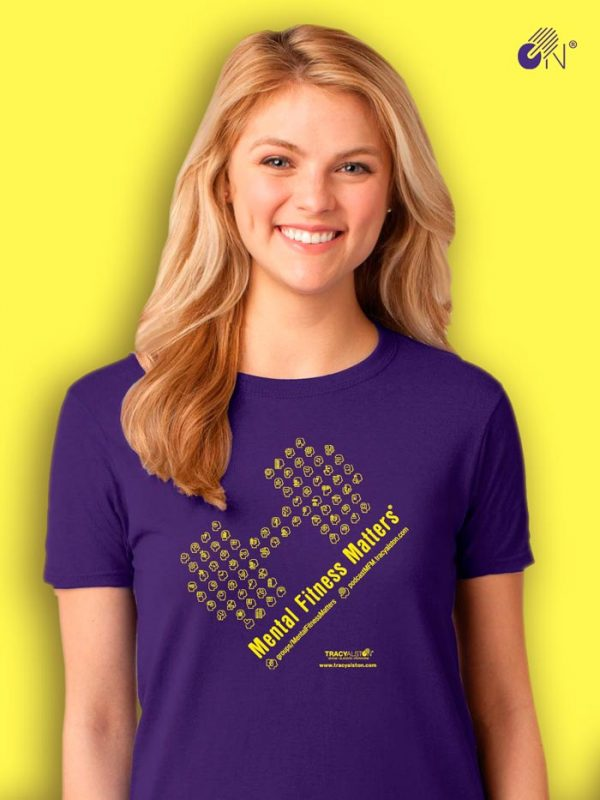 Mental Fitness Matters T-shirt_purple lisa