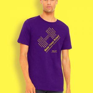 Mental Fitness Matters T-shirt_purple Paul
