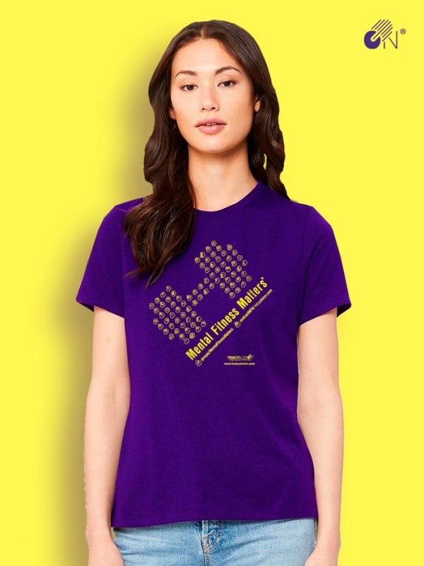 Mental Fitness Matters T-shirt_purple Xi